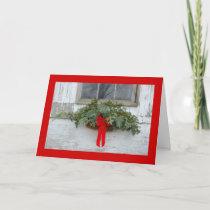 Christmas at the farm holiday card