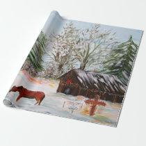 Christmas at the Farm Wrapping Paper