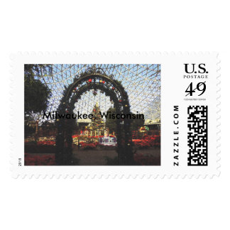 Christmas at the Mitchell Park Domes Postage