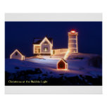 Christmas at the Nubble Light Poster