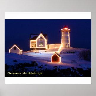 Christmas at the Nubble Light Print