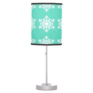 Christmas at Tiffanys Aqua Blue Snowflakes Desk Lamps