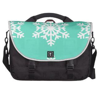 Christmas at Tiffanys Aqua Blue Snowflakes Laptop Bag