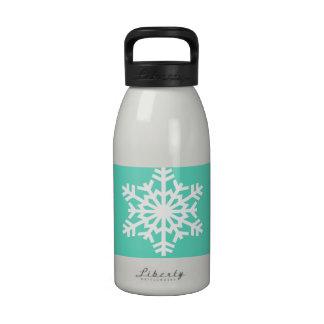 Christmas at Tiffanys Aqua Blue Snowflakes Drinking Bottle