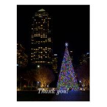 Christmas At Warren Park Night Postcard