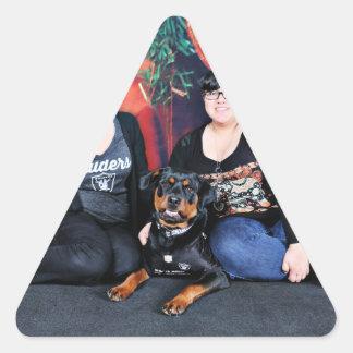Christmas - Athena - Rottweiler Triangle Sticker