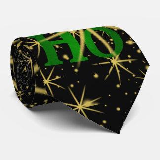 """Christmas Attitude Fun - """"HO HO HO Already!"""" Black Tie"""