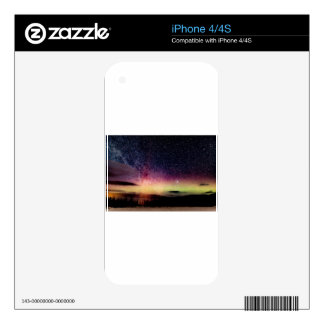 Christmas aurora sky decal for the iPhone 4S