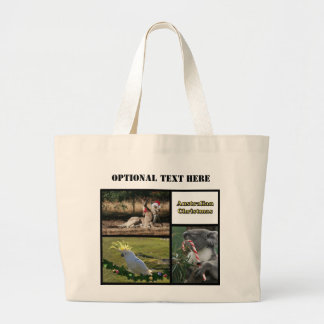 Christmas Aussie Style Animals Large Tote Bag