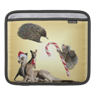Christmas Australian Animals Sleeves For iPads