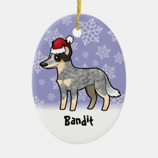 Christmas Australian Cattle Dog / Kelpie Ceramic Ornament