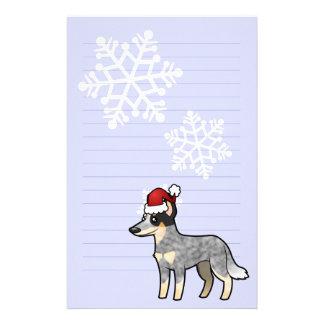 Christmas Australian Cattle Dog Kelpie Stationery Paper