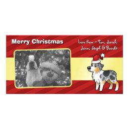 Christmas Australian Shepherd Card