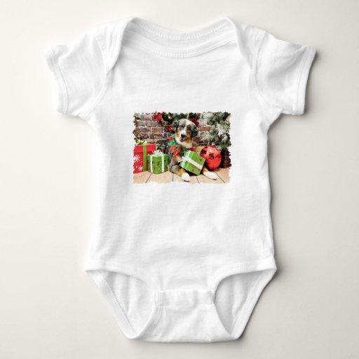 Christmas - Australian Shepherd - Loki T Shirts