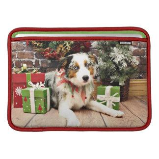 Christmas - Australian Shepherd - Ozzie MacBook Sleeves