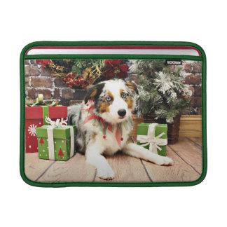 Christmas - Australian Shepherd - Ozzie MacBook Air Sleeve