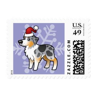 Christmas Australian Shepherd Postage