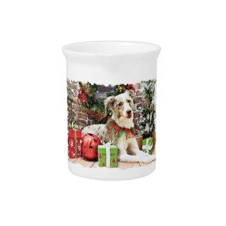 Christmas - Australian Shepherd - Shelby Drink Pitcher