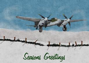 christmas aviation greetings cards - Aviation Christmas Cards