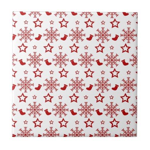 christmas azulejo cuadrado pequeño