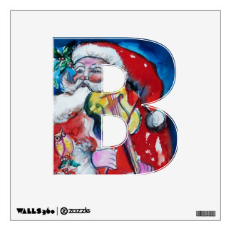CHRISTMAS B LETTER /SANTA  CLAUS WITH VIOLIN WALL SKINS