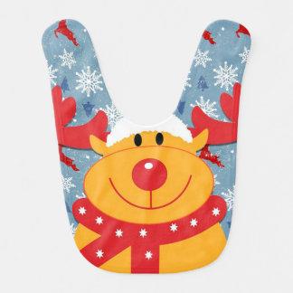 Christmas Baby Bib/Rudolph Baby Bib