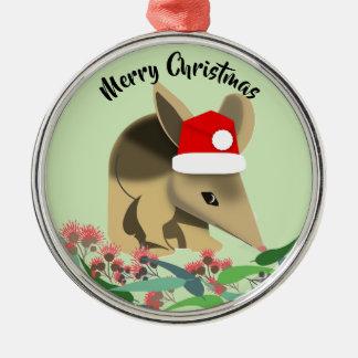 Christmas Baby Bilby Metal Ornament