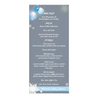 Christmas Baby Boy Baby Shower Party Menus