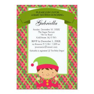 Christmas Baby Boy Elf - Baby Shower Invitation