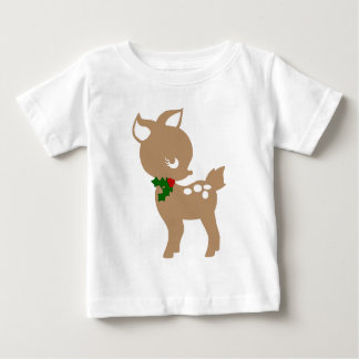 Christmas Baby deer shirt with holly