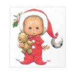 Christmas Baby Elf And Teddy Memo Notepads