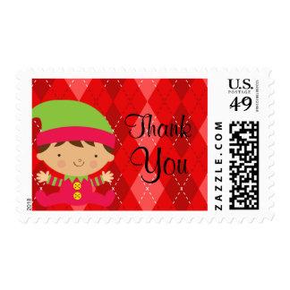 Christmas Baby Elf Postage Stamp