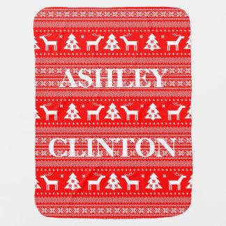 Christmas BABY Fleece Blanket Personalized NAME