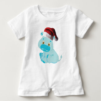 Christmas Baby Hippo Baby Romper