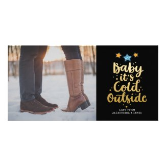 Christmas Baby Its Cold Outside Typography Card