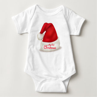 Christmas Baby Jersey Bodysuit/My First Christmas Baby Bodysuit