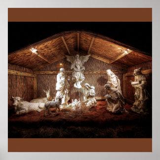 Christmas Baby Jesus Nativity Manger Scene Poster