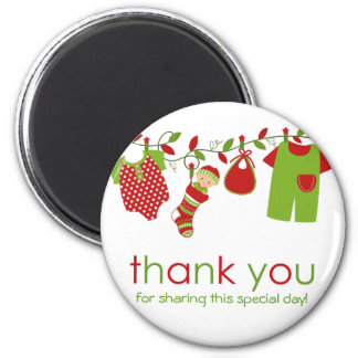 Christmas Baby Laundry Boy Thank You Magnet