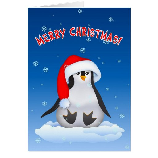 Christmas baby penguin greeting card zazzle for Penguin christmas cards homemade