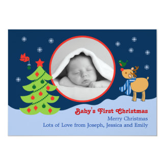 Christmas Baby Photo Announcement
