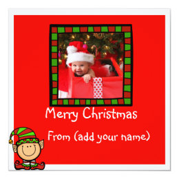 Christmas baby photo card