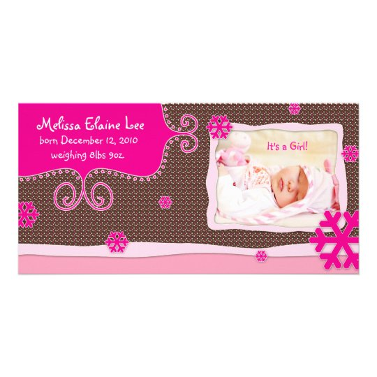 Christmas Baby Photo Card Announcement