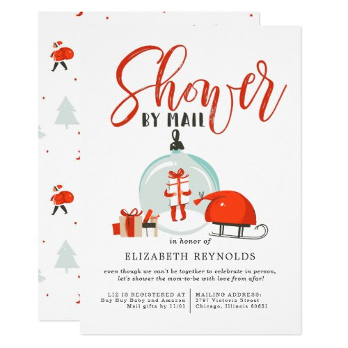 Christmas Baby Shower by Mail Invitation