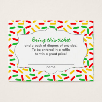 Christmas Baby Shower Diaper Raffle Tickets