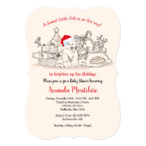 Christmas Baby Shower Invitation