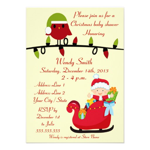 christmas baby shower invitation cards 4 5 x invitation card