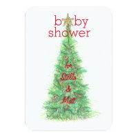 Christmas baby shower invitations announcements zazzle christmas baby shower invitation girl or boy filmwisefo Choice Image
