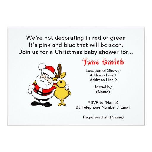 christmas baby shower invitations zazzle