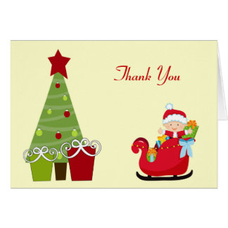 Christmas Baby Shower Thank You Notes Card