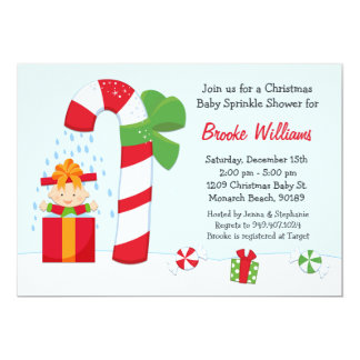 Christmas Baby Sprinkle Shower Invitation